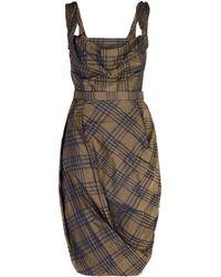 Vivienne Westwood Red Label Taffeta Plaid Corset Dress - Lyst