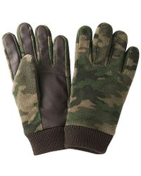 Uniqlo Heattech Lining Printed Fleece Gloves - Lyst