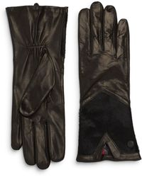 Vince Camuto - Calf Hair & Leather Gloves - Lyst