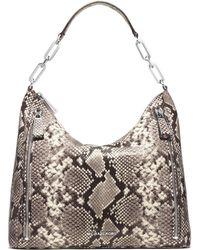 MICHAEL Michael Kors | Matilda Large Snake-embossed Leather Shoulder Bag | Lyst
