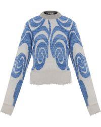 Acne Studios Gaze Ps Wave Crop Sweater - Lyst