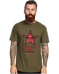 Obey Star 96 Basic Tee - Lyst