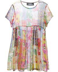 Jeremy Scott Patchwork Effect Dress - Lyst