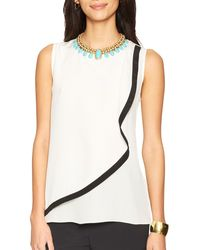 Ralph Lauren Tiered Silk Top - Lyst