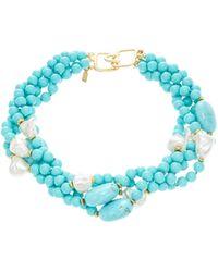 Kenneth Jay Lane 4-Row Collar Necklace - Lyst