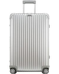 Rimowa Medium Silvertone Topas Suitcase - Lyst