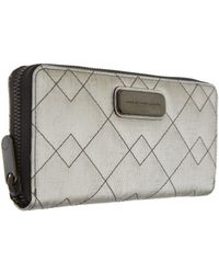 Marc By Marc Jacobs - Silver Sophiscato Metallic Zip Purse - Lyst
