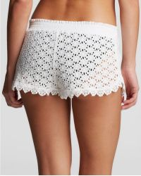 OndadeMar - Glam Eyelet Swim Cover Up Shorts - Lyst