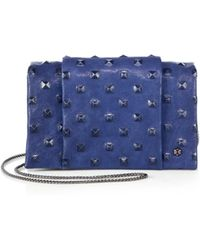 Halston Heritage Pyramidembossed Leather Chain Wallet - Lyst