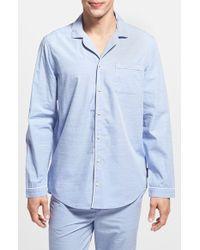 Calvin Klein Chambray Pajama Shirt blue - Lyst