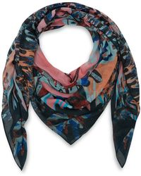 Markus Lupfer - Multicolour Union Jack Lara Lip Print Modalblend Scarf - Lyst