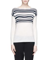 Vince Variegated Stripe Wool-Cashmere Sweater - Lyst