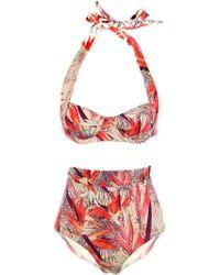 Seilenna Kea Tropical Day High Waist Bikini multicolor - Lyst