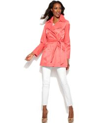 Via Spiga Double-breasted Trench Coat - Lyst