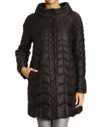 Ermanno Scervino Coat Quilted Down Jacket Cape - Lyst