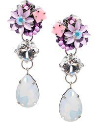 Asos Opal Gem Drop Earrings - Lyst