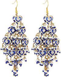 Chamak by Priya Kakkar - Diamond-shape Tiered Chandelier Earrings - Lyst