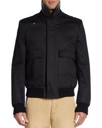 Burberry Prorsum Studded Collar Cotton Sateen Jacket - Lyst