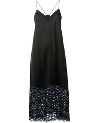 DKNY Lace Bottom Insert Dress - Lyst