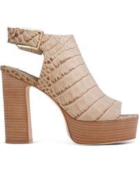 Rachel Zoe   Croc-Embossed Leather Sandals   Lyst