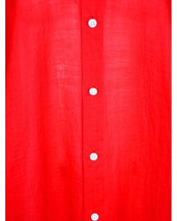 Junya Watanabe | Red Mandarin Longline Shirt | Lyst