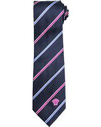 Versace Thin-Stripe Silk Tie - Lyst
