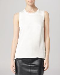 Reiss Top Constance Simple Sleeveless - Lyst