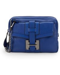 Halston Heritage Leather Cross Body Bag - Lyst