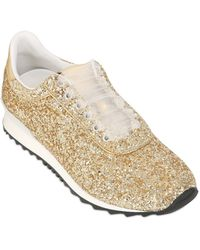 Casadei Limited Edition Glittered Sneakers gold - Lyst