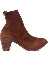 Guidi Chunky Heel Ankle Boot - Lyst