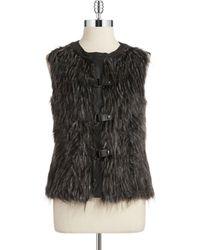 Jones New York Faux Fur Vest - Lyst