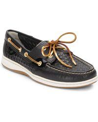Sperry Bluefish 2eye Basketweave Boat Shoes - Lyst