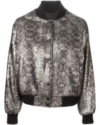 Unconditional Snake Skin Print Bomber Jacket - Lyst