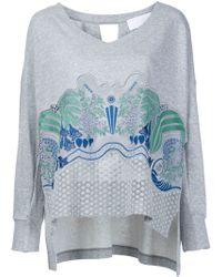 Mame - Flower Embroidery Sweatshirt - Lyst