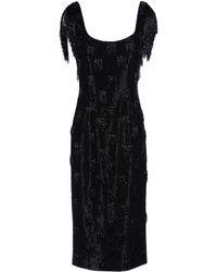 L'Wren Scott | Fringed Sleeves Knee-Length Dress | Lyst