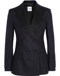 Moschino Pinstriped Wool Blazer - Lyst