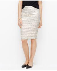 Ann Taylor Tweed Pencil Skirt - Lyst