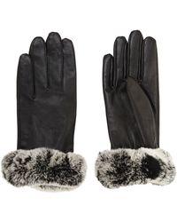 BCBGMAXAZRIA - Fur Cuff Gloves - Lyst