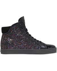 Hogan Rebel | 50mm Glittered & Patent Leather Sneakers | Lyst