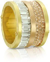 Michael Kors Multi-Stone Barrel Ring - Lyst