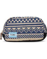 TOMS - Indigo Ikat Traveler Cosmetic - Lyst