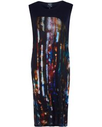 McQ by Alexander McQueen Black Print Sleeveless Jersey Dress - Lyst