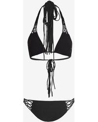 Mikoh Swimwear Crochet String Bikini black - Lyst