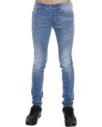 Diesel Jeans Sleenker Skinny Stretch Used Denim blue - Lyst
