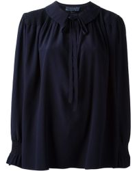 Valentino Vintage Pussy Bow Blouse - Lyst