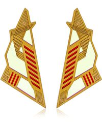 Sarah Angold Mirantor Earrings gold - Lyst