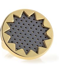 House of Harlow 1960 - Perforated Leather Sunburst Ring Gray - Lyst