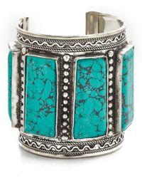 Raga - Turquoise Cuff Bracelet - Lyst