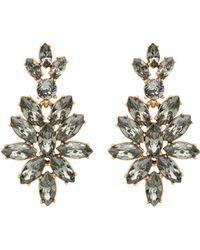 Oscar de la Renta Swarovski Crystal Navette Drop Earrings - Lyst
