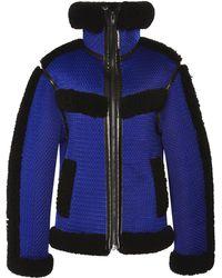Alexander Wang Mesh Bonded Shearling Track Jacket - Lyst
